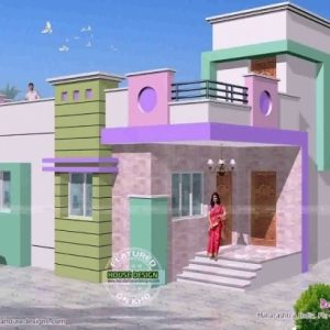 Single Floor House Front Elevation Designs In Tamilnadu