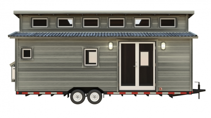 Image of The Cider Box: Modern Tiny House Plans For Your Home On Wheels House Front 24 Ft Photo