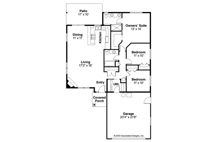 Image of Traditional House Plans - Alden 30-904 - Associated Designs 10×30 Home Design Image