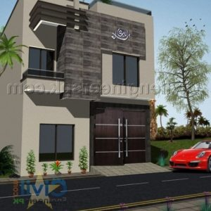 4 Marla House Front Design
