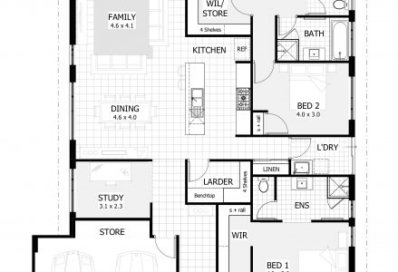 4 Bedroom Flat Plan On Half Plot