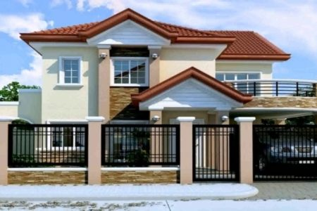 Simple Filipino 2 Storey House Design With Floor Plan