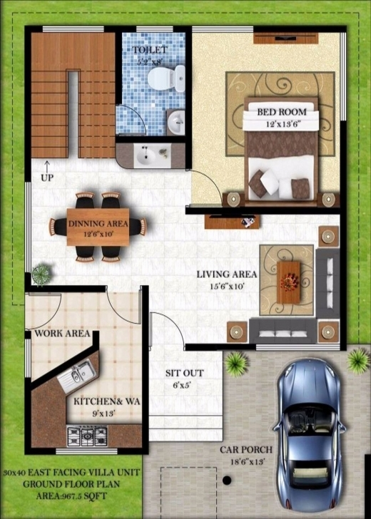 Incredible 20 X 45 House Plans East Facing Lovely 17 Beautiful 30 X 40 House 15 * 45 House Plan East Facing Photo
