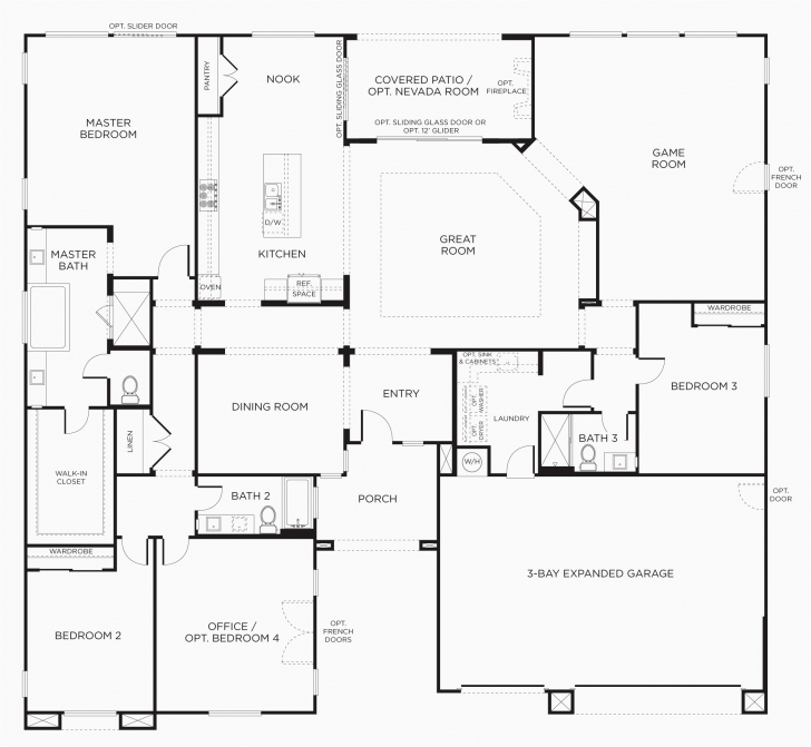 Incredible 3 Bedroom House Floor Plans Elegant Single Storey House Floor Plan 3 Bedroom House Floor Plans Single Story Photo