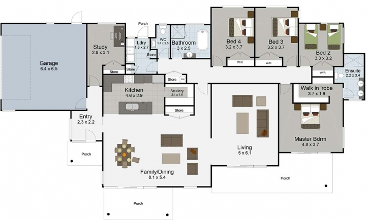 Incredible 5 Bedroom House Plans | Rangitikei From Landmark Homes Landmark Homes 5 Bedroom Floor Plan In Nigeria Image
