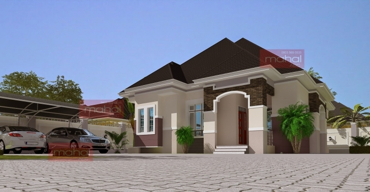 Incredible Contemporary Nigerian Residential Architecture 3 Bedroom Flat Modern Buildings Image