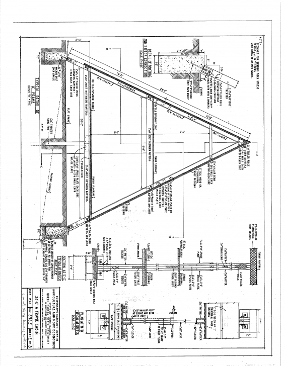 Incredible Free A-Frame Cabin Plans Blueprints Construction Documents | Sds Plans A Frame House Plans With Loft Picture