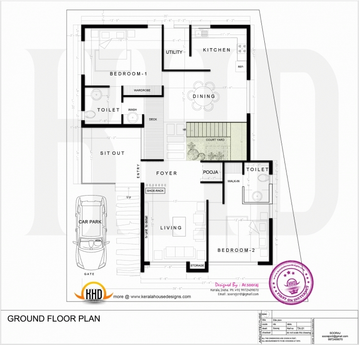 Incredible Inspirational Design 1400 Sq Ft House Plan With Car Parking 3 1500 Sq Ft House Plan With Car Parking Picture
