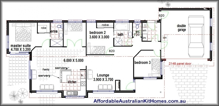 Incredible Lovely 2 Bedroom House Plans With Open Floor Plan Australia Modern 3 Bedroom House Plans With Double Garage Australia Picture