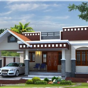 Single Floor Small Home Front Design