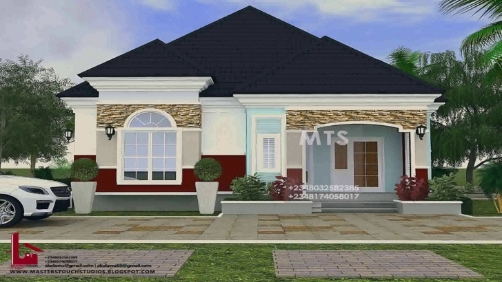 Incredible Pictures Of 4 Bedroom Bungalow House Plans In Nigeria - Youtube Four Bedroom Bungalow In Nigeria Image