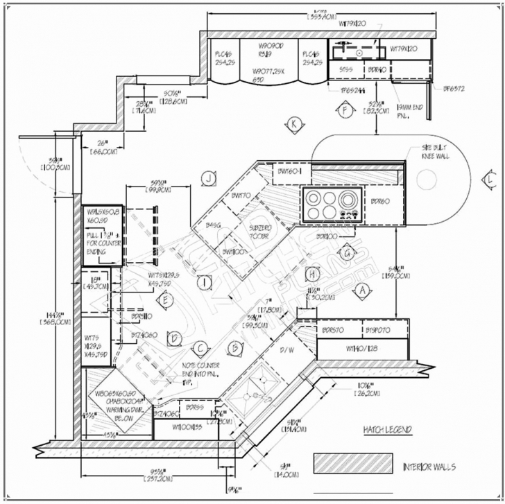 Incredible Simple House Floor Plan Autocad New Cadkitchenplans Portfolio 2D Autocad 2D Plan Image