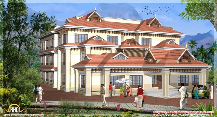 Incredible Style House Models Kerala Home Design Plans - Home Plans 3D House Model Kerala Photo