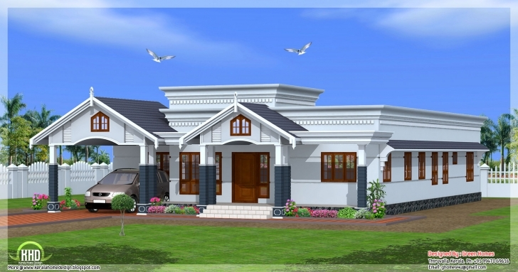 Incredible Uncategorized : 3D House Plan Indian Style Fantastic With Wonderful Fantastic Single Floor House Pic