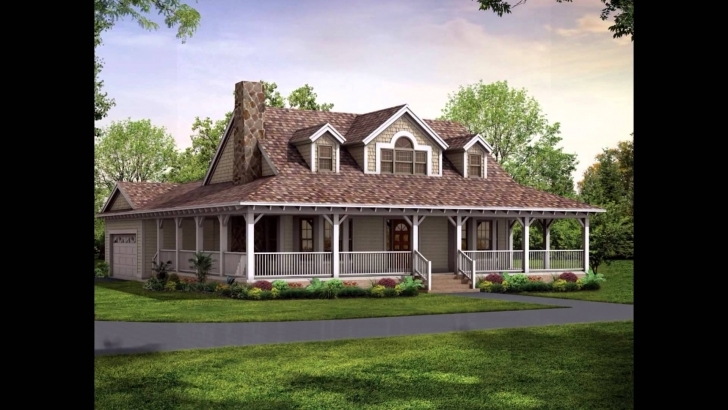 Incredible Wrap Around Porch House Plans - Youtube 4 Bedroom Wrap Around Porch Bungalow Photo
