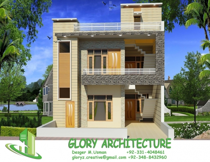 Inspirational 25X50 House Elevation, Islamabad House Elevation, Pakistan House Front Elevation Of Houses In Pakistan Image