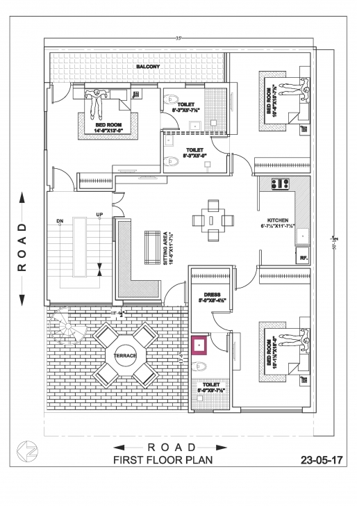 Inspirational 35×50 House Map Drawings – Ghar Banavo 17*50 House Plan Map Photo