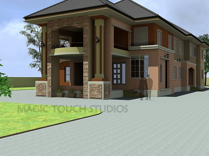 Inspirational 4 Bedroom Duplex With Attached Two Bedroom Flat. Photos Of 4 Bedroom Flats Picture