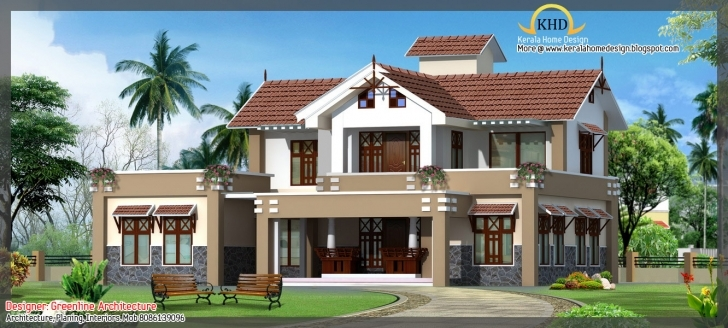Inspirational Awesome House Elevation Designs Kerala Home Design Floor Plans Kerala House Elevations With 3D View Picture