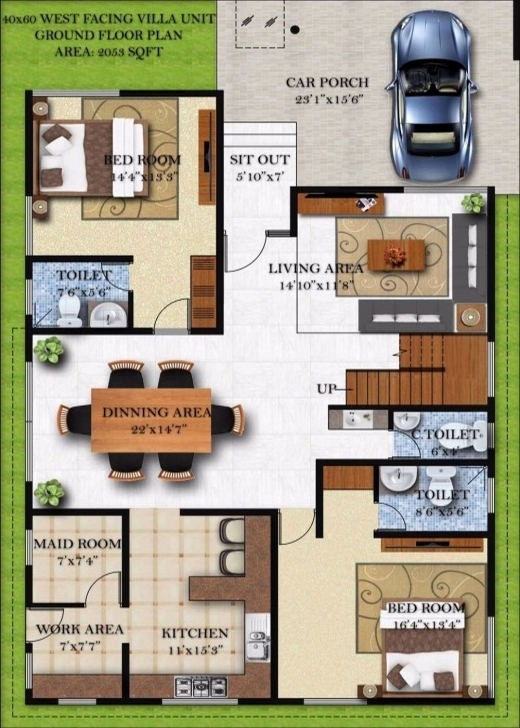 Inspirational Bedroom : Duplex House Plans N Style Youtube Duplex West Facing 30 22*40 House Plan North Facing Image
