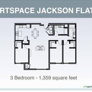Structure Of Three Bedroom Flat