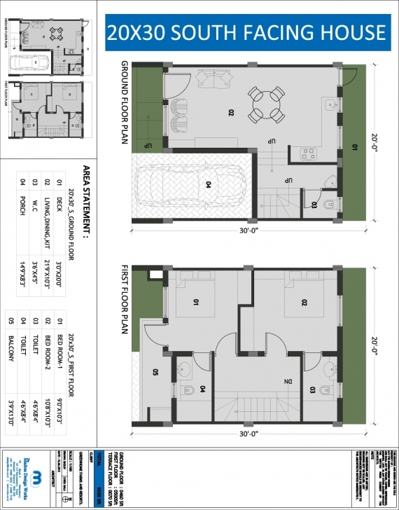 Inspirational Building Plans For South Facing Plots Fp 2 House Plan 20 30 Plot 20*50 House Plan South Facing Image