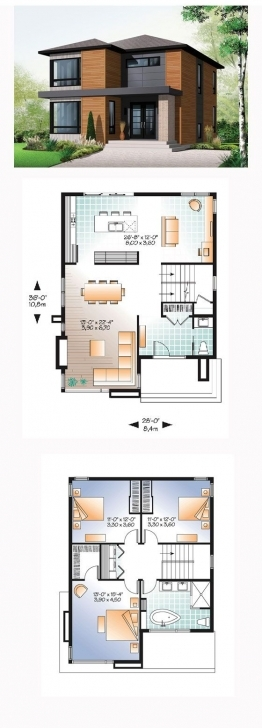 Inspirational Contemporary Modern House Plan 76317 | Modern House Plans, Bedrooms Modern 3 Bedroom House Floor Plans Photo