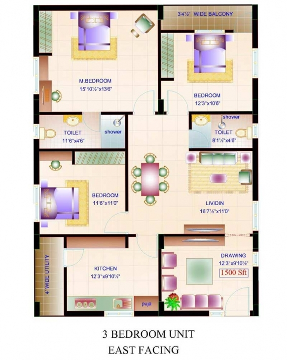 Inspirational East Facing House Vastu Plans House Plan For 30 Feet By 50 Feet Plot Home Map 16*50 Feet Picture