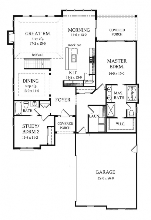 Inspirational Floor : Two Bedroom Ranch House Plans Homes Floor Plans Ranch House Simple House Plan With 2 Bedrooms And Garage Picture