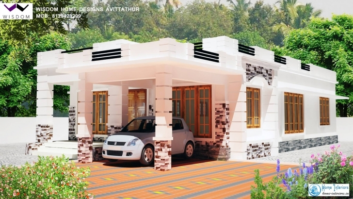 Inspirational Home Architecture: Single Bedroom House Plans Square Feet Design Kerala Model 750 Sq Veedu Design Image