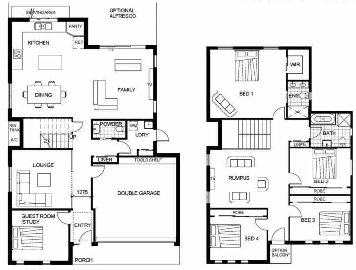 Inspirational House: Small Double Storey House Plans Double Storey House Plans Pic