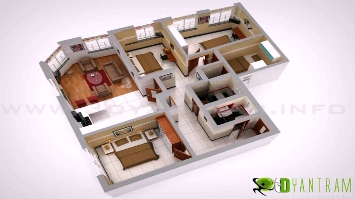 Inspirational Low Budget Modern 3 Bedroom House Design Floor Plan 3D - Youtube Low Budget Modern 3 Bedroom House Design Floor Plan 3D Image