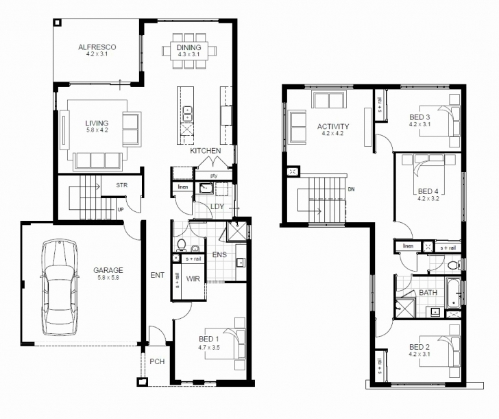 Inspirational Simple 4 Bedroom Home Plans | Scavenge Simple 4 Bedroom House Plans 2 Story Pic