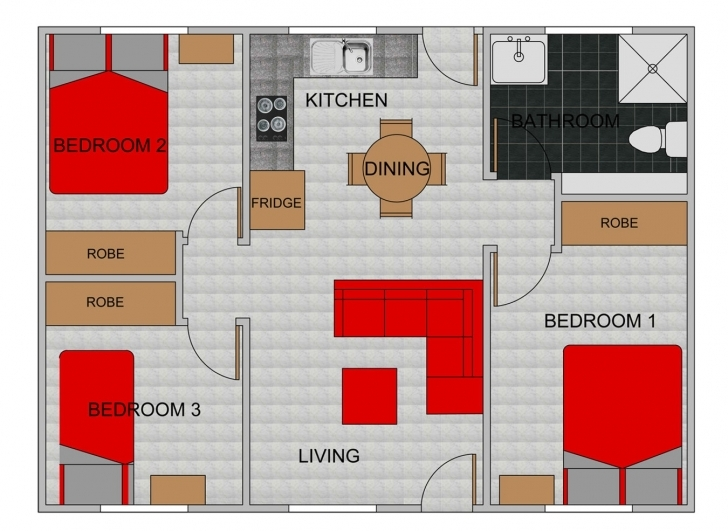 Inspirational Three Bedroom Flat Plan With Concept Magnificent Photoshots 3 18 Image Of Three Bedroom Flat Pic