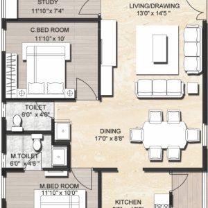 1200 Sq Ft House Plan With Car Parking In Chennai