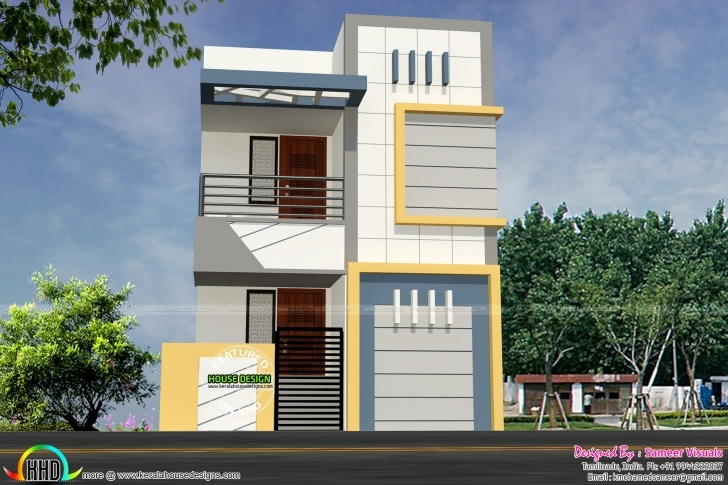 Inspiring 16 Feet Width House Plan Architecture - Kerala Home Design And Floor 16 Feet Front Elevation Design Picture