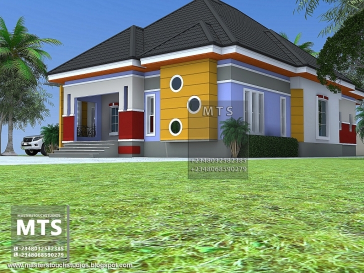 Inspiring 3 Bedroom Bungalow 3 Bedroom Bungalow In Half Plot Of Land Picture