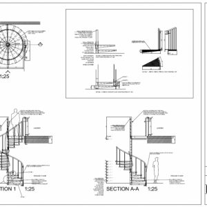 Plan Elevation And Section Drawings Dwg