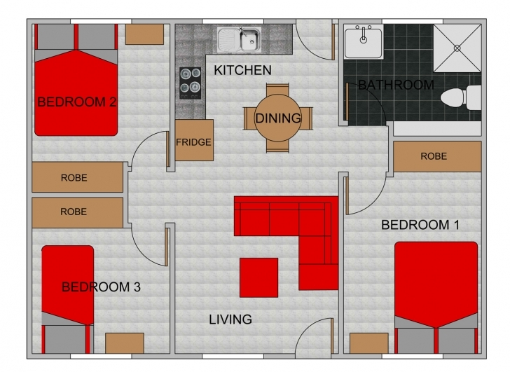 Inspiring Bedroom Granny Flats Bellcast - House Plans | #1674 Pictures Of Three Bedroom Flats Pic