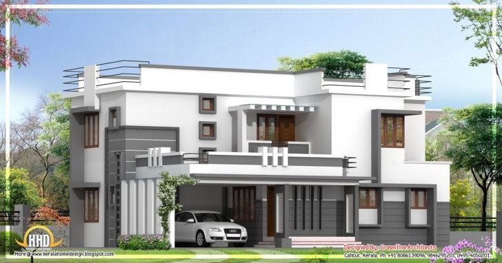 Inspiring Contemporary 2 Story Kerala Home Design - 2400 Sq. Ft. | Dream Home Modern House In Kerala Photo