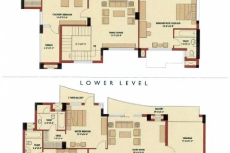 4 Bedroom Duplex Building Plan