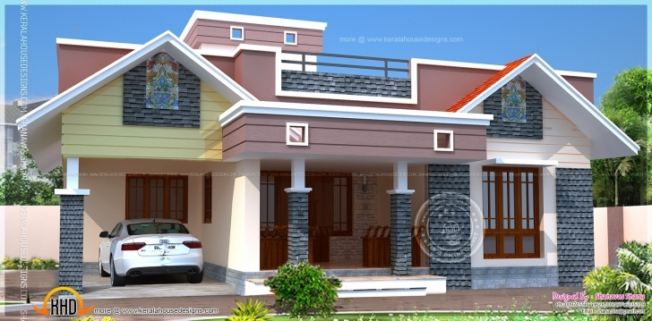 Inspiring Floor Plan Modern Single Home Indian House Plans - Building Plans Single Floor Home Front Design Modern Picture