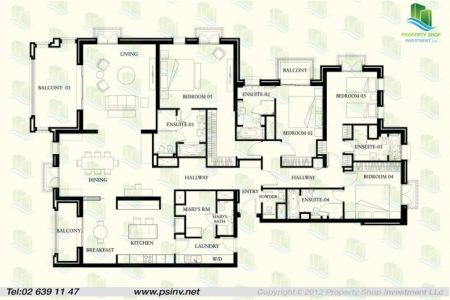 Ground Floor Plan For 4 Bedroom Flat