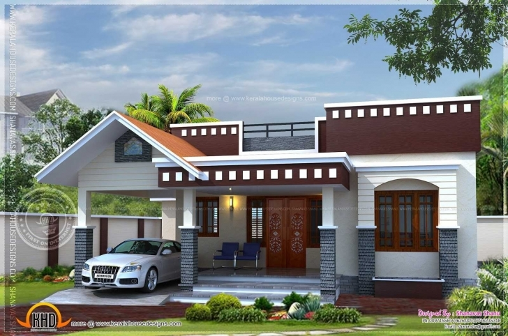 Inspiring Front Elevation Of Single Floor House Kerala Pictures With Charming Single Floor Home Front Design Photo