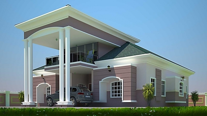 Inspiring Gorgeous Design Ideas 4 Bedroom House Designs Ghana 11 Plans On 4 Bedroom Modern House Plans In Ghana Photo