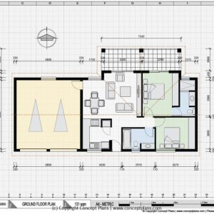 Autocad Drawing House Plan Sample