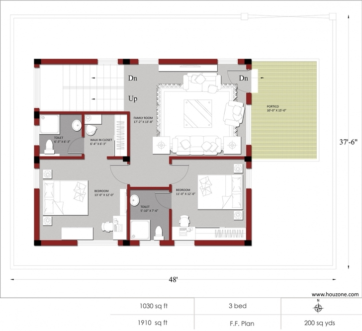 Inspiring Indian House Plans For 1500 Square Feet – Houzone Indian House Plans For 1500 Square Feet Pic