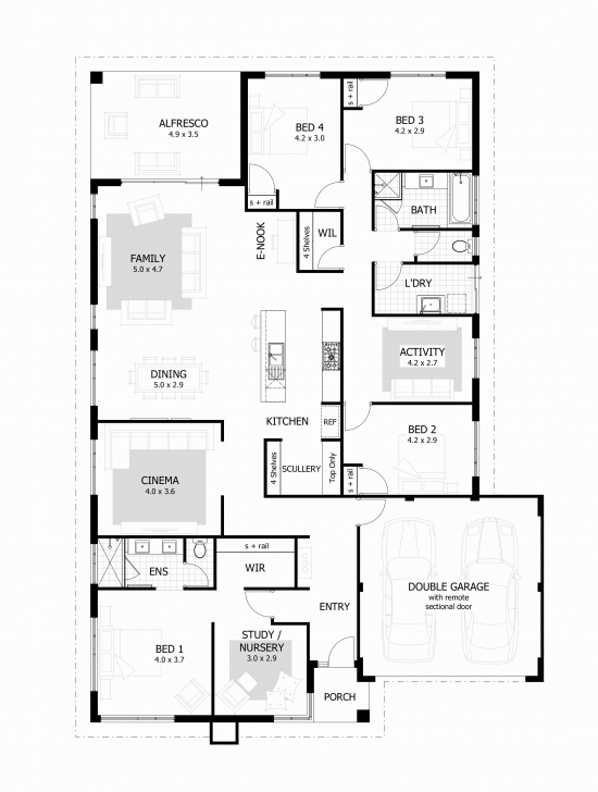 Inspiring Luxury 3 Bedroom House Plan On Half Plot - House Plan Simple Storey On A Half Plot Photo
