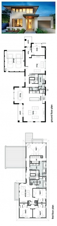 Inspiring Modern 4 Bedroom House Plans - Homes Floor Plans Modern 4 Bedroom House Floor Plans Picture