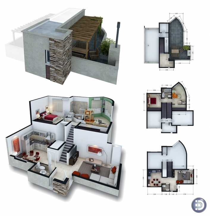 Inspiring Planos 3D Para Duplex | Photorealistic Renderings And 3D Animations 3D Pictures Of A Duplex Pic